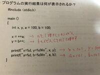 インクリメント演算子の前置と後置の違いがよく分かりません。。x=101となるのは分かるのですが、なぜy=100となるのでしょうか?yに増やした1はどこに行ってしまったのでしょうか