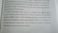 なぜthat節中のusingのあとにsvが続いているのでしょうか that the list of scientific studiesで文が完成してるように見えますが