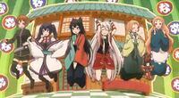 アニメ「うらら迷路帖」のキャラクターなんですが、左から順に誰ですか?