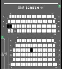 TOHOシネマズなんばにて乃木坂46のドキュメンタリー映画第2弾となる「いつのまにか、ここにいる」を見たいと思っているんですが、どの席が1番いいと思いますか?(下図)