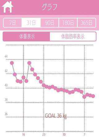 体重変化 グラフ 生理中