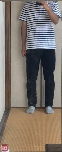 黒ジーンズにボーダーシャツ。この服装ダサいですか?