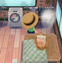 どうぶつの森 ポケットキャンプ このアイテムはなんでしょうか? 煙?湯気?みたいなのが出てるアイテムです! フレンドさんのところにあり気になりました!