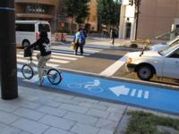 自転車レーンの設けられた道路が増えてきていますが、自転車レーンの整備と共に自転車の歩道乗り入れは禁止されることになるのですか?  それとも自転車レーンあっても、歩道への乗り入れ可能なのですか?