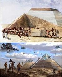 ピラミッドはどのように建設されたか、すでに解明されているのですか? 奴隷を大量動員したとか、破格の給料だとか、並べた丸太の上を巨大な石を滑らせながら運んだとか。 あるいは宇宙人たちの超科学テクノロジ...