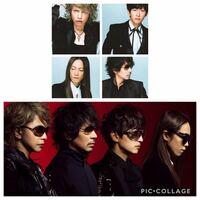 ラルクファンに質問です このふたつの画像って髪型同じですか??  L'Arc~en~Ciel ラルクアンシエル Hyde Ken TETSUYA yukihiro