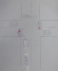 前方に信号がない交差点を左折する場合  添付しました画像のように、【左右には信号があるけど、前方に信号がない交差点】を左折する場合です。 ➡この場合、左右の信号が赤なら、左折しても問題ないのでしょうか?