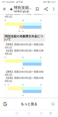 特別老齢年金制度について 昭和29年の9月22日に生まれた人は  特別老齢年金制度は 年齢61歳より比例報酬部分が  支給開始されている年代と考えて良いですか?  下の写真を参考にしています。