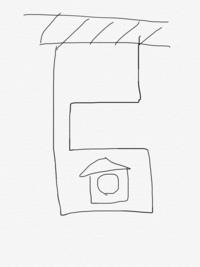 再建築不可物件について教えて下さい。道路に接する土地の部分が2メートルの幅がないと再建築不可物件というのは分かったのですが、例えば接する部分が2メートル以上あってその敷地内に路地があ り、その幅が2メートル未満の場合、その奥に家は建てれないのでしょうか?簡単ですが写真の通りです。