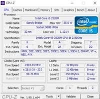 CPUをceleron b815からi5 2520Mに変えたんですが、コアが認識されません。 Intelのサイトではコアは2つとなっているんですが、CPUZやタスクマネージャーを見てもコアが1つしか認識されていません。このPCはメモリ増設、Windowsアップグレード(7から10)をしているので何か対応していないものがあるのかもしれません。 メーカーはNECでPC-LS150HS1KBです。