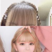 この写真のあいにょんのような三角の前髪にしたいのですが、どうすればなれますか (;;)