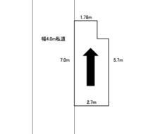 自宅前の駐車スペースで質問です。  画像のような駐車スペースがあります。 4m幅の私道に接しています。 矢印の方向に縦列駐車をする際、 どのくらいの大きさの自動車が止められるでしょう か。  ①シエンタのようなミニバンクラスまで ②アルファードのような大型ワンボックス ③その他ご意見ありましたらお願いします  ポイントは ・私道に接している為、時間をかけて駐車ができる...