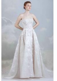 ウェディングドレスに詳しい方教えてください  Aラインドレスにパニエを入れる場合、6段のパニエは入れられないのでしょうか? 画像のようなドレスです。 (Aラインドレスをプリンセスライン のドレスのように...