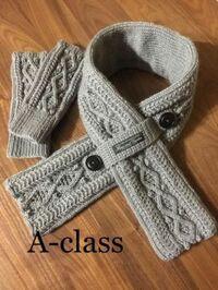 編み物に詳しい方に質問です。 この画像のマフラーを通すベルト部分は何編みでしょうか? 宜しくお願い致します。