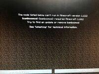 PC版マインクラフトでMODを入れようとしたらこのような画面になりましたどうしたらいいですか?