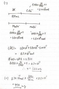 酸 水素 酸化 過 カリウム マンガン 過