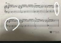 ピアノ 指番号  ただいまピアノ練習中の超初心者なのですが、指番号について教えてください。  楽譜のところなのですが、シ♭レラを125で弾くと思うのですが、一段目最後のミファを34と弾い たあと、下段のシ♭レラを125で弾こうとするとスムーズにいかなくて…。  どうしたらスムーズに弾けると思いますか?アドバイスお願いしますm(_ _)m