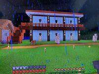 マイクラ 統合版で村人の家を作ったのですが 二階のベッドにキラキラが出たけど 夜になると1階に集まって二階に行ってくれません。  階段を増やしたらいいのでしょうか?