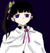 栗花落カナヲちゃんを描いてみたのですが、 改善していきたいので、アドバイスお願いします
