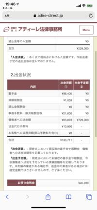 アディーレ法律事務所で任意整理を2件頼んでるのですが最初の着手金で1万現金で払っています。 それから入出金状況で確認したのですが更に着手金で8万引かれてました。8万って高く無いですか? ?こんなものですか?なんかぼったくられてる気がします… こんなもんなんですかね…? 毎月1万7千円払ってます