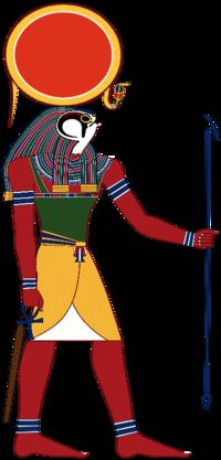 エジプト神話の太陽神ラーが描かれているイラストを見ると、頭の上に丸いものが乗っかっているのをよく見ますが、これは何を意味しているんでしょうか?