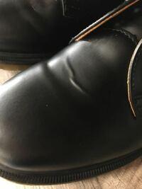 ドクターマーチンの靴にこのようなしわができたのですが、もう戻りませんよね…。