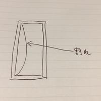 ガラスの割れについて。  新築でまだ間もないのですが、 家のガラスが割れました。  メーカーは、YKKAP。 apw330を使用しています。 割れ方は、画像の様な感じで上から下まで弧を描く様 に割れていました...