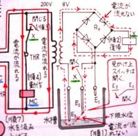 リレーと回路図  回路図を見て下さい。 リレーXが復帰、動作で、 2つの接点Xが開いたり、閉じたりするようです。 このリレーから接点まで、 無線で、開け、閉じろ、指示が行っているのですか? それとも...