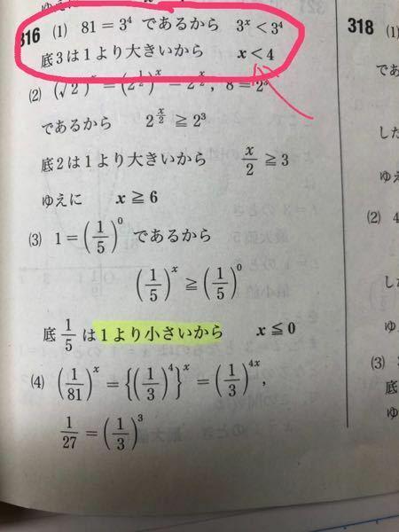 この問題はどのようにして不等号を変えているのでしょうか?