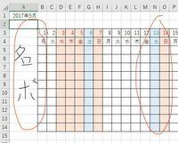 エクセルの印刷について質問です エクセルのカレンダーで、ウインドウ枠の固定をした場合は、左側の名簿と離れた日付のセルは印刷できませんか? 画像だと、名簿の部分と右の赤枠の部分です コントロールで名簿と日付を選択すると1日から全部選択されてしまいます。