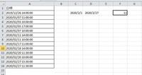 A列のセルからC2からD2の期間の個数をF2に表示させたいのですが。