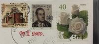 英文メッセージの意味が理解できません。  Postcrossingを楽しみの1つにしており、セルビア在住のセルビア人と絵葉書の交換をしました。 届いたので、到着した旨を連絡したところ、下記の返 信がありました。  Very often I use one little perfidy trick. The stamp with nominal value 3,5 is charit...