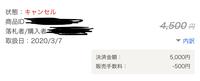 PayPayフリマについて  出品者です。  購入者の都合でキャンセルに同意したのですが、ヤフオクの売上金の表に画像のような記載があります。  キャンセルしたとしても手数料は発生するので しょうか?