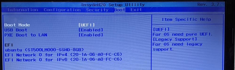 Ubuntuを再インストールしようとしているのですが、BIOSにusbの選択肢がないのですが、どうすればいいでしょうか?