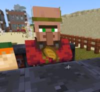 Minecraft統合版で村人がパンやニンジンを、エメラルドを見せてるわけでもなく他の村人に渡すわけでもなく手に持って歩いているこの姿には何か意味があるのでしょうか?