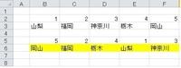 B2~F3 まで数値と県名があります B2~F2までは必ず昇順です  B5~F5までランダムに数値が並んだとき C行の県名を表す関数をお願いします  エクセル2013です