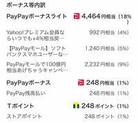 PayPayについて PayPayモールで買い物しました。ボーナスが入るそうですが248円付与予定だけしか書いていません。残りの額⚪︎月⚪︎日付与予定とか書いていませんがくれないのでしょうか?