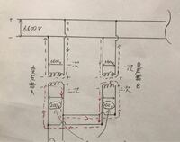 変圧器の並行運転時の電流について教えて下さい! 図のように変圧器Aと変圧器Bを並行運転した場合、 二次側の電位差で赤線のような方向に循環電流が流れると思います。 そこで質問で赤線の方向に循環電流が流れた場合、 変圧器Bの一次側電流は変圧器Aの一次側電流とは逆向きに(打ち消すような方向)流れているのでしょうか?