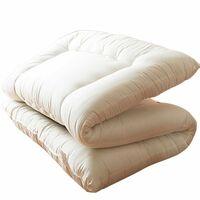 安めの敷布団にお詳しい方へお伺いをいたします。 ・ 質問1.安めの敷布団の価格は10%の消費税込みでおおよそいくらぐらいするものなのでしょうか。 ・ 質問2.安めの敷布団でも、寝心地はそこそこでした...