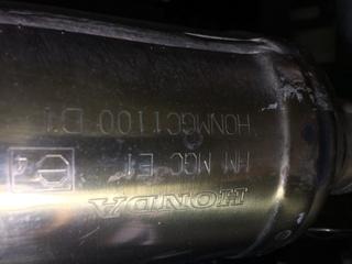 CB1100,排ガス,純正マフラー,車検,エキパイ側,検査官,エンブレム
