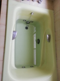 ジェットバス機能?(泡が勢いよく出てくるもの)がついています。洗浄剤を、使って掃除したいのですが、一つ穴タイプ、二つ穴タイプどちらでしょうか? よろしくお願いします