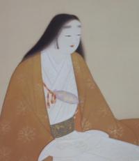 上村松園の 「楠公夫人」 の絵の、胸に巻きつけてある布袋みたいなものは何ですか、何が包まれているのですか。