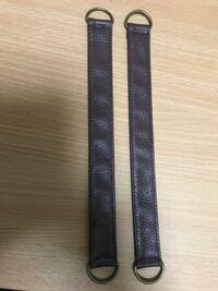 ハンドメイド かぎ針編みのトートバッグをつくりました。 百円ショップで写真の持ち手を二本購入しましたがどの様に付けるのかよくわかりません よろしくお教え下さい。