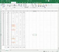エクセルのデータ抽出法  添付ファイルをご確認下さい。  表にある通り、「1組のリンゴの数(=23個)」を一つのセルに反映するにはどうすればよいでしょうか? 尚、「1組」は数値やアルファベットに置き換えても問題ないです。  「1組」を2組や3組また、「リンゴ」をみかんやイチゴに変えてデータを合計数を取得したいです。  表の空白に「0」を入力することも可能です。  goog...