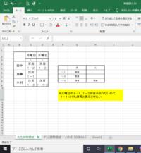 """エクセルのINDEX関数とMATCH関数についてです。  次の画像で、1-1,1-2の火曜日に""""体育""""を表示させることはできないでしょうか?"""
