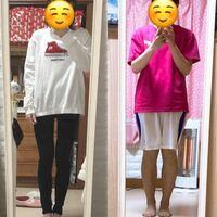 今日は現在高校生です。 身長160で体重43キロです。 ダイエット始めて約20キロほど落ちました。 足の写真は51キロの時と現在です。 もう少し足を細くしたいのですが何キロになれば細くなりますか?