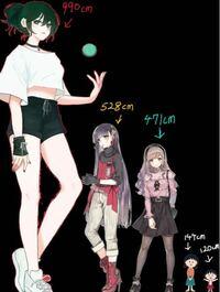 こういった感じの身長が高い女の子キャラクターを教えてください。