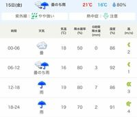 雨について質問です。 気象庁の天気予報を拝見したところ 午後から 6時間降水量→7ミリ 6時間降水量→2ミリ とあったのですが小雨だと思っておいても よろしいでしょうか。  よろしくお願いします。