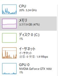 今どきメモリー8GBは少ない方かと思いますがメモリー8GBのパソコンを使ってる方は不満無いですか?