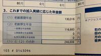 年金に関して ハガキが届いたのですが、将来月に246699円貰えるということでしょうか。